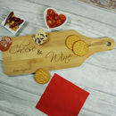 Cheese And Wine Bamboo Paddle Board