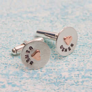 Personalied Usher Cufflinks In Greetings Box - new in wedding styling