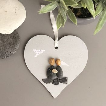 Personalised Wedding Hanging Heart Keepsake