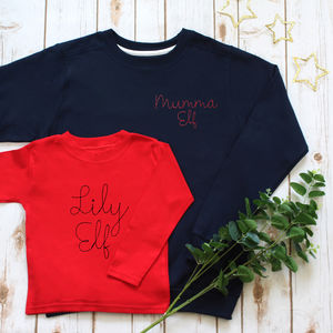 Embroidered Family Elf Christmas Jumper Set - gifts for families