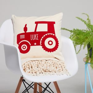 Personalised Children's Tractor Cushion - cushions