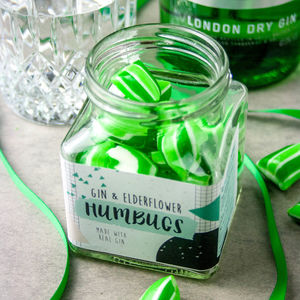 Alcoholic Gin And Elderflower Humbugs Jar - chocolates & confectionery