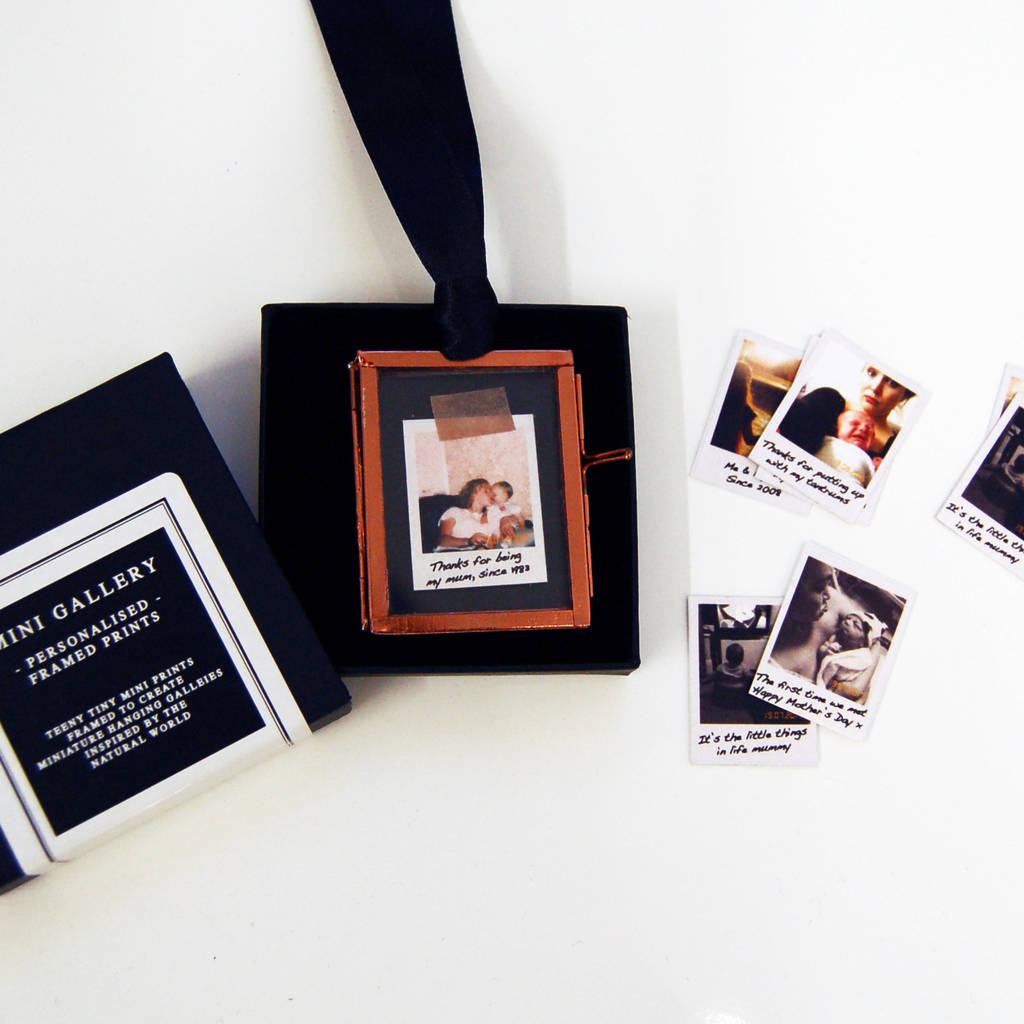 Personalised Mini Photo Frame Christmas Decoration By Made With Love