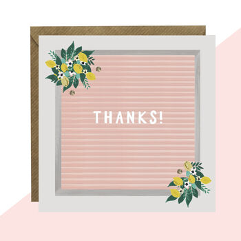 'Thanks!' Message Board Card