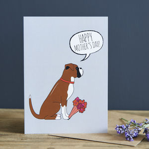 Boxer Mother's Day Card - mother's day cards & wrap