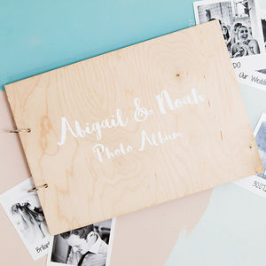 Personalised Modern Calligraphy Photo Album - wedding gifts