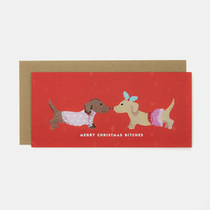 Merry Christmas Bitches Greeting Card - winter sale