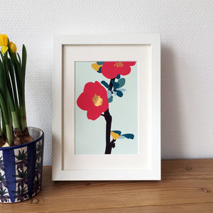 Quince Blossom Print