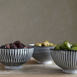 Set Of Three Striped Bowls - kitchen