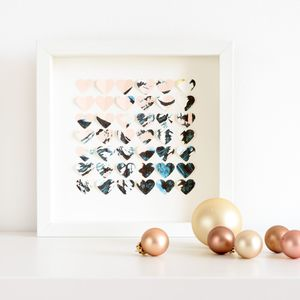 Patterned Hearts Frame - children's pictures & paintings