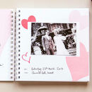 1st To 50th Wedding Anniversary Book Personalised