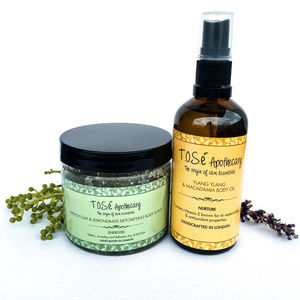 Body Scrub And Body Oil Set