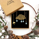 Rain Cloud Necklace And Earrings Gift Set