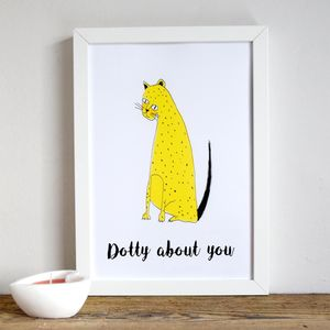 'Dotty About You' Leopard Illustrated Children's Print