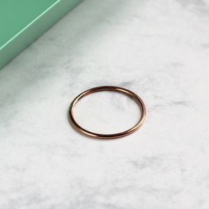 Skinny Stacking Ring Rose Gold Fill - rings