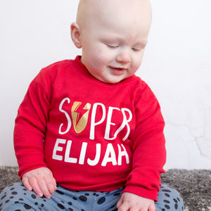 Personalised Superhero Kids T Shirt - clothing