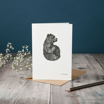 B Is For Bear Card