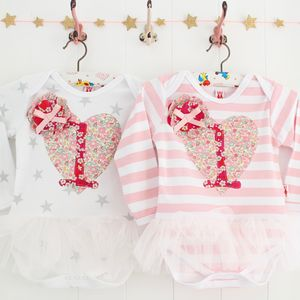 Heart 1st Birthday Tutu Bodysuit
