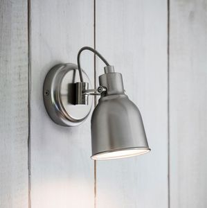 Satin Nickel Wall Light - baby's room