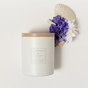 'Lighthouse' Floral Sea Salt Luxury Soy Candle - the candle emporium