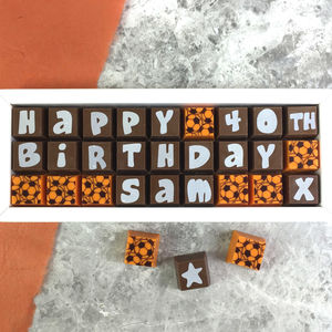 Personalised 40th Birthday Chocolate Box
