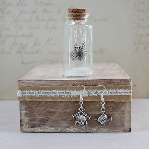 Knitting Charm Earrings In A Bottle