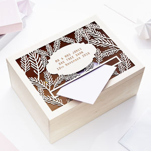 Personalised Fern Wedding Post Box - keepsakes