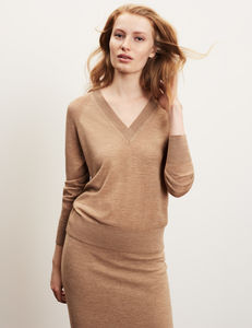 Merino Wool V Neck Jumper
