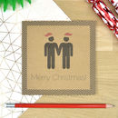 Mr And Mr Christmas Card