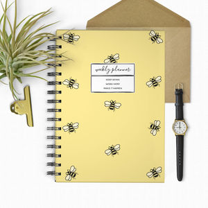 Honey Bee Undated Weekly Planner - 2017 & 2018 diaries