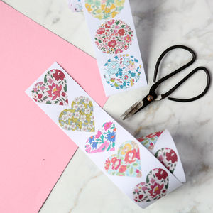 Liberty Roll Of Stickers - wedding stationery