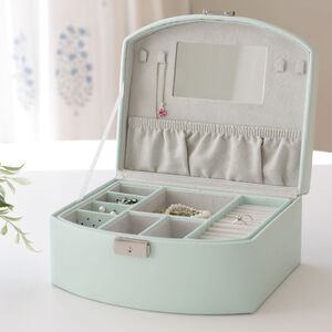 Lockable Mint Green Jewellery Box