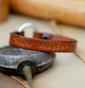 Personalised Brown Urban Ranch Loop Bracelet