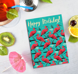 Birthday Scarlet Ibis Card