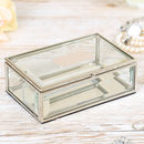 Personalised Bevelled Glass Jewellery Box Gift