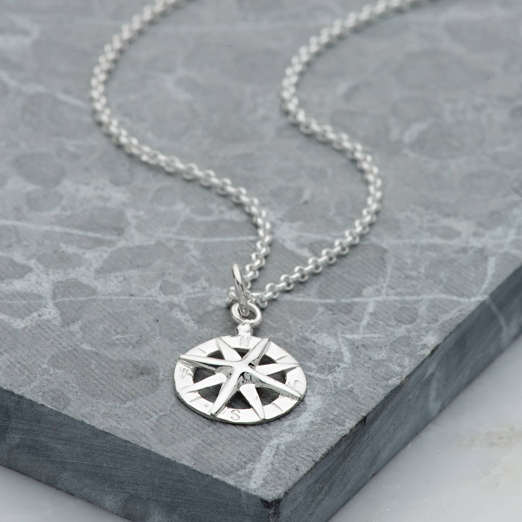 thomas necklaces pendant necklace image pendants sabo compass silver