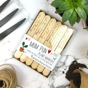 Personalised Mothers Day Funny Plant Marker Set - fresh & alternative flowers