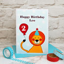 'Lion' Personalised Boys Birthday Card