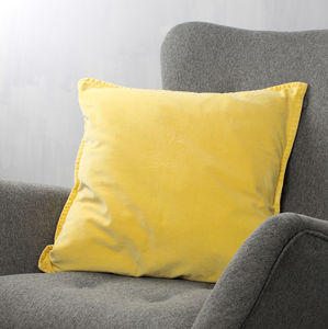 Yellow Velvet Cushion