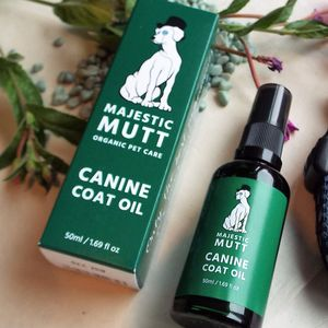 Organic Dog Coat Moisturising Oil UK Made 50ml
