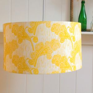 Honesty Lampshade Block Printed By Hand - lampshades