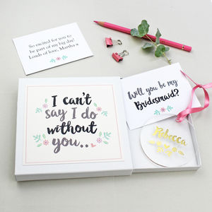 'Will You Be My Bridesmaid?' Keepsake Gift - new in home