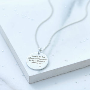 Lewis Carroll Engraved Necklace - valentine's gifts for her