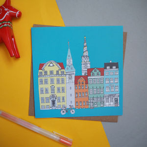Copenhagen Cityscape Greetings Card