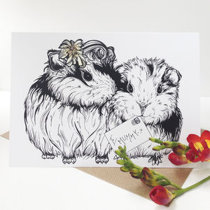 Guinea A Kiss Mother's Day Card - shop by category