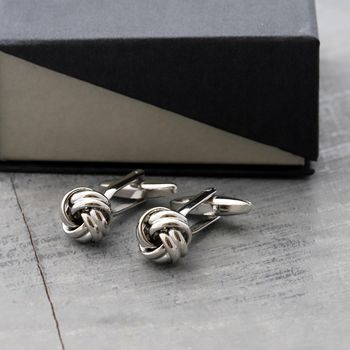 Silver Knot Cufflinks For Men
