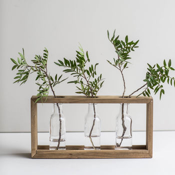 Triple Framed Stem Vase