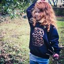 Horse Pattern Personalised Initial Sweatshirt