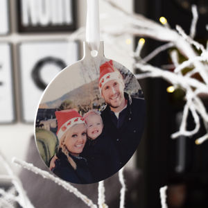 Personalised Photo Christmas Tree Decoration - new in christmas