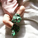 Pink And Green Leopard Print Baby Bootie Slipper